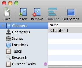 StoryMill's default document setup